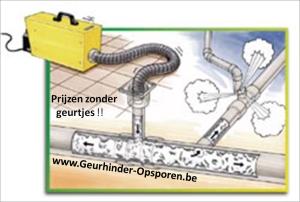 Principe van opsporen geuren afkomstig van riolering
