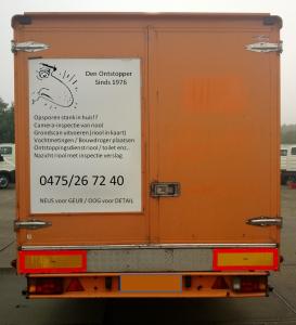 reclame camion achteraan
