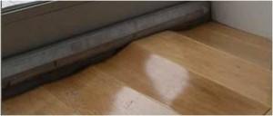 waterschade aan laminaat vloer